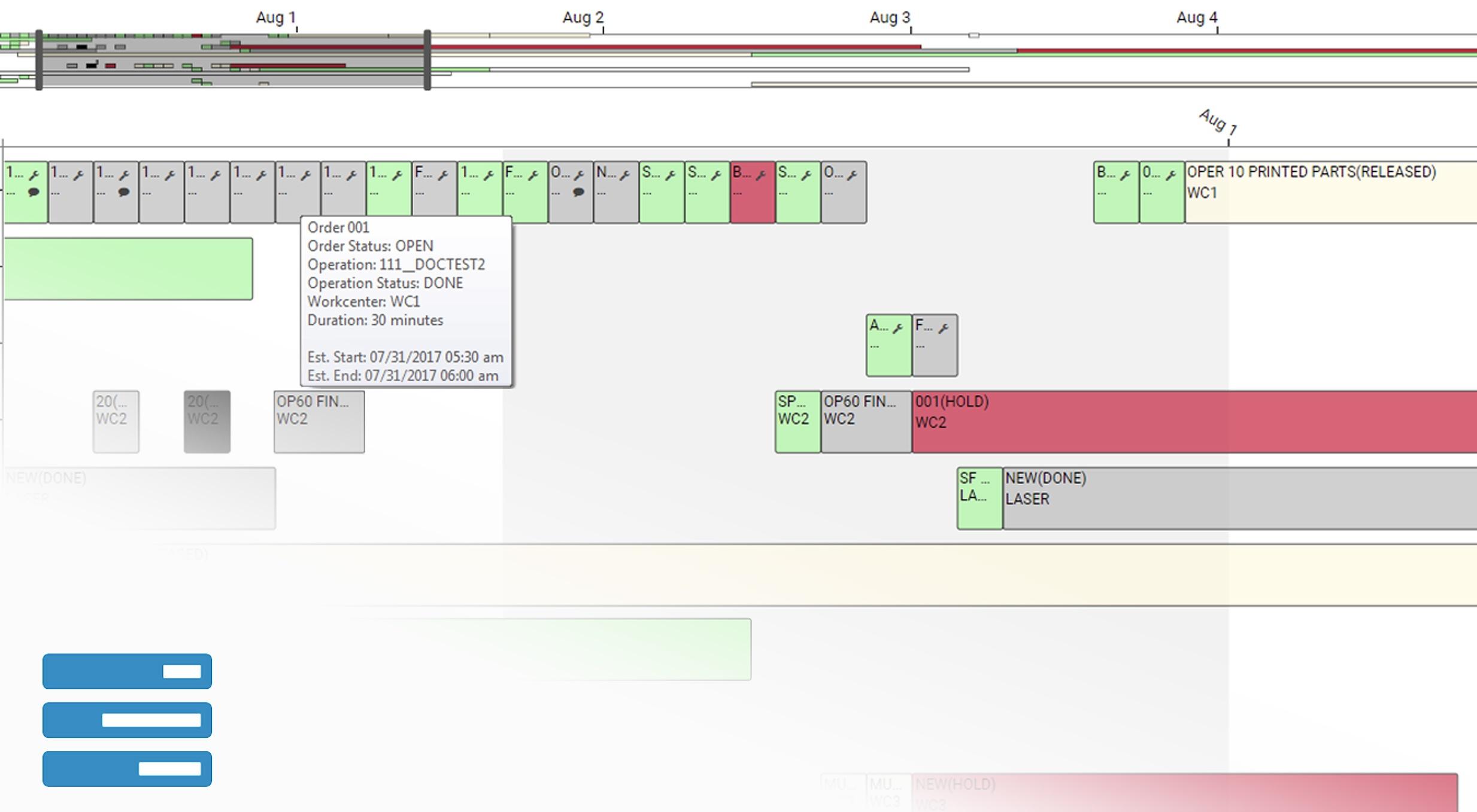 Finite Manufacturing Scheduler